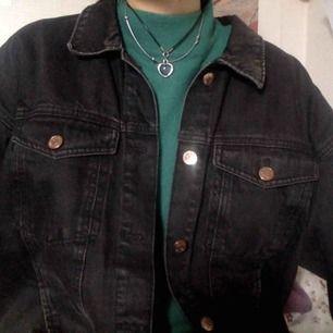 Jeansjacka från Monki som jag har croppat