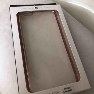 Oanvänt iPhone 6 Plus skal, mjukt med rosa kanter, säljes då jag ej har den telefonen⭐️