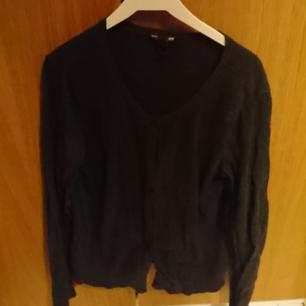Dark Grey/Black Cardigan. Used once. 100% cotton