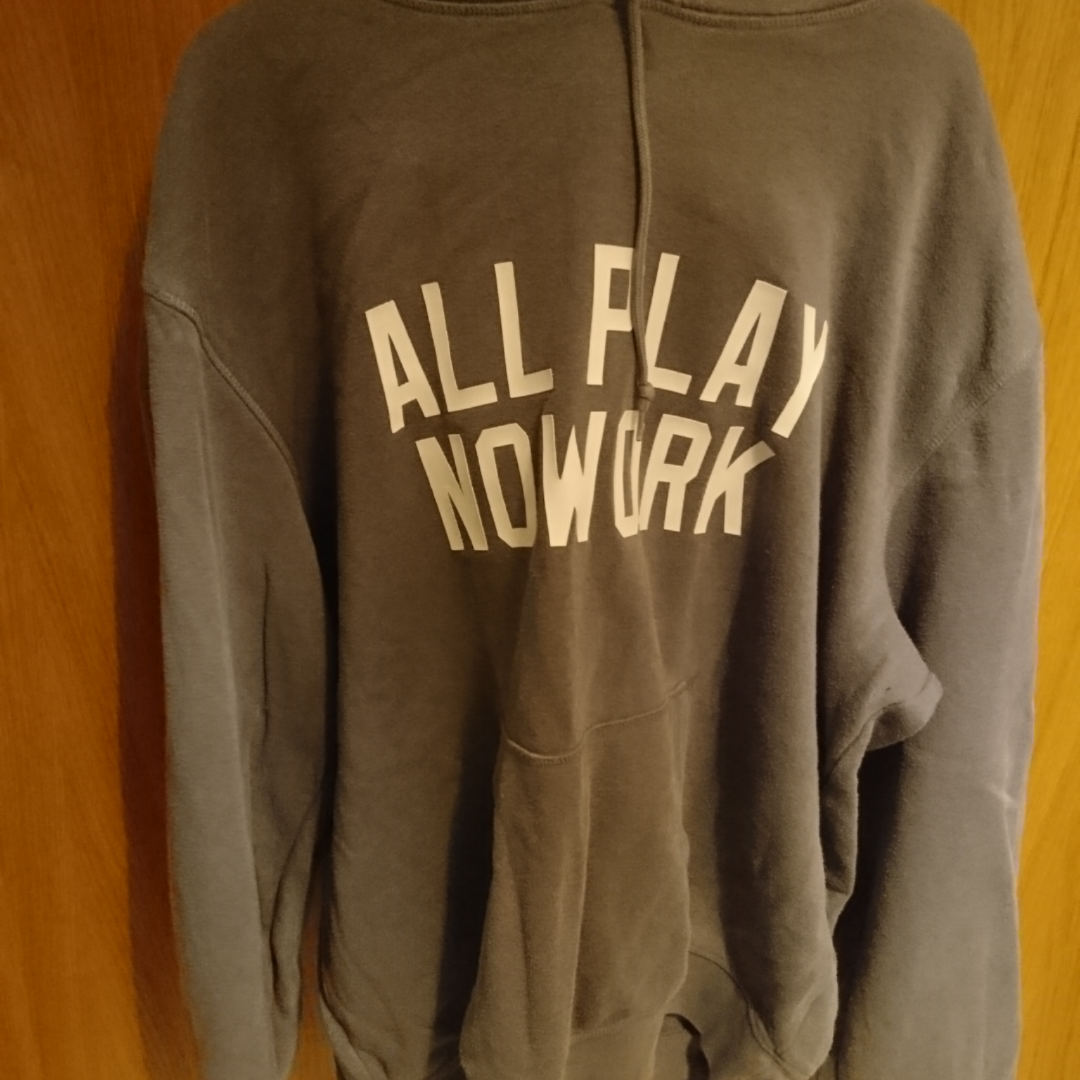 Grey/Blue hoodie with Used well but no holes. 60% cotton 40% polyester. Huvtröjor & Träningströjor.