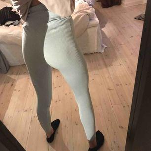 Säljer mina superfina träningsbyxor ifrån Aimn. De är ljusblåa och är väldigt stretchiga så jag skulle säga att de kan passa både en som är större än s och mindre! Använda en gång. Köparen står för frakten!