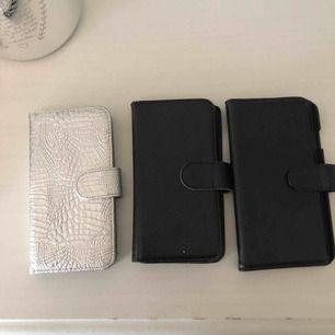 Plånboksfodral iPhone 6 ett brunt, svart och silver färgat