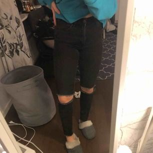 Grå/svarta jeans, fint skick 100kr ink frakten