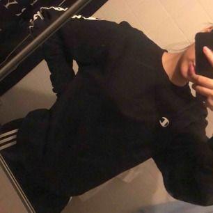 svart tröja från champion i strl M i man! funkar för både kille & tjej 🖤 OBS kunden står för frakten! kan även mötas upp i stockholm för snabb affär