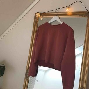 Superskön tegelstensfärgad lite croppad tröja i bra skick