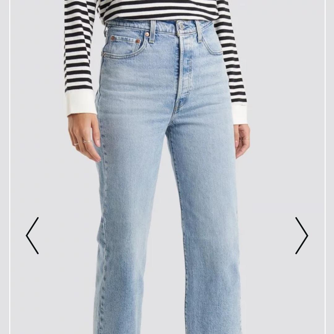 HELT NYA ribcage levis jeans i storlek 25.  Säljer mina nya ribcage jeans pga att dom var för små för mig. Inköpt för 1 månad sedan för 1200:- säljer dom endast för 600 då jag vill bli av med dom.   Köparen står för frakten, kan även mötas upp i Göteborg.   . Jeans & Byxor.