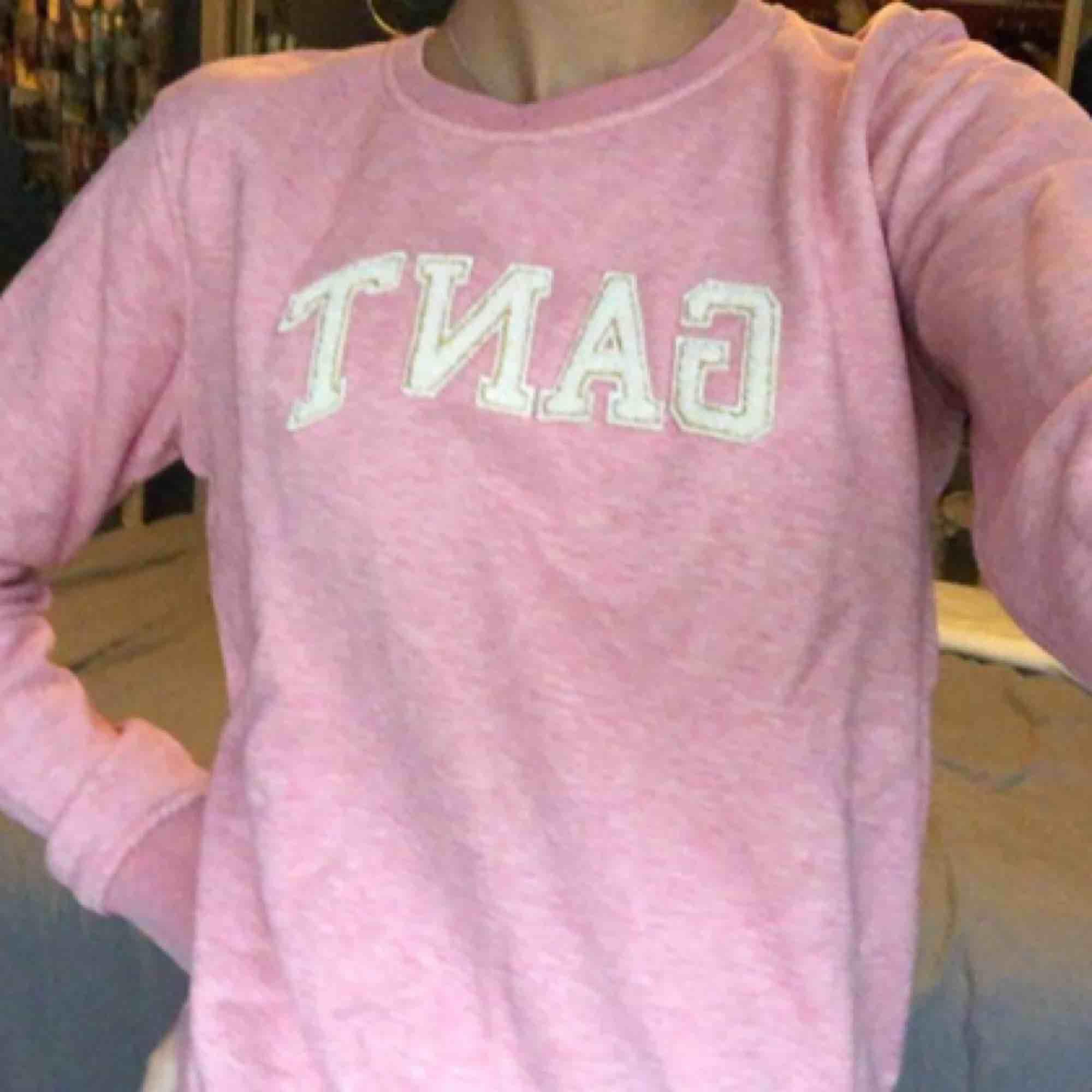 Rosa gant tröja från barnavdelningen, passar en xs! Använd ca 1 gång. Köpare står för frakt.  . Huvtröjor & Träningströjor.
