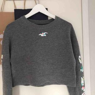 Snygg och skön Hollister sweatshirt som tyvärr inte kommer till användning, lite kortare i modellen🥰