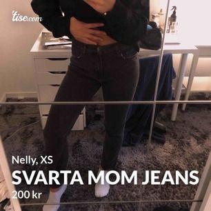 Aldrig använt, svarta boyfriend jeans som nya