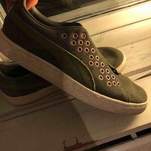 Supersnygga puma skor i storlek 38! (Gröna snören som hör till skorna hänger med)  Finns i Falun men kan skickas😊💕