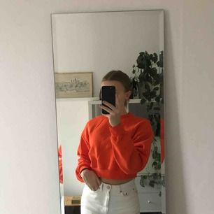 Klar orange croppead sweatshirt från hm! Aldrig använd.