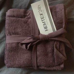 Helt nya handdukar från Hemtex.30x30 5 pack