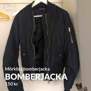 Mörkblå bomberjacka köpt från Chiquelle för ca 599kr skulle jag tippa på. Storlek S. Väldigt snygg och även lite varm så passar perfekt nu på  hösten eller vinter i södra sverige. #bomberjacka #chiquelle #mörkblå