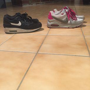 Säljer 2 par Nike Air, båda storlek 36.5 och 250kr styck. Använda men bra skick och mycket kvar att ge! kan putsas till men inga hål eller liknande.  Frakt tillkommer eller träff centrala Göteborg- Brunnsparken.