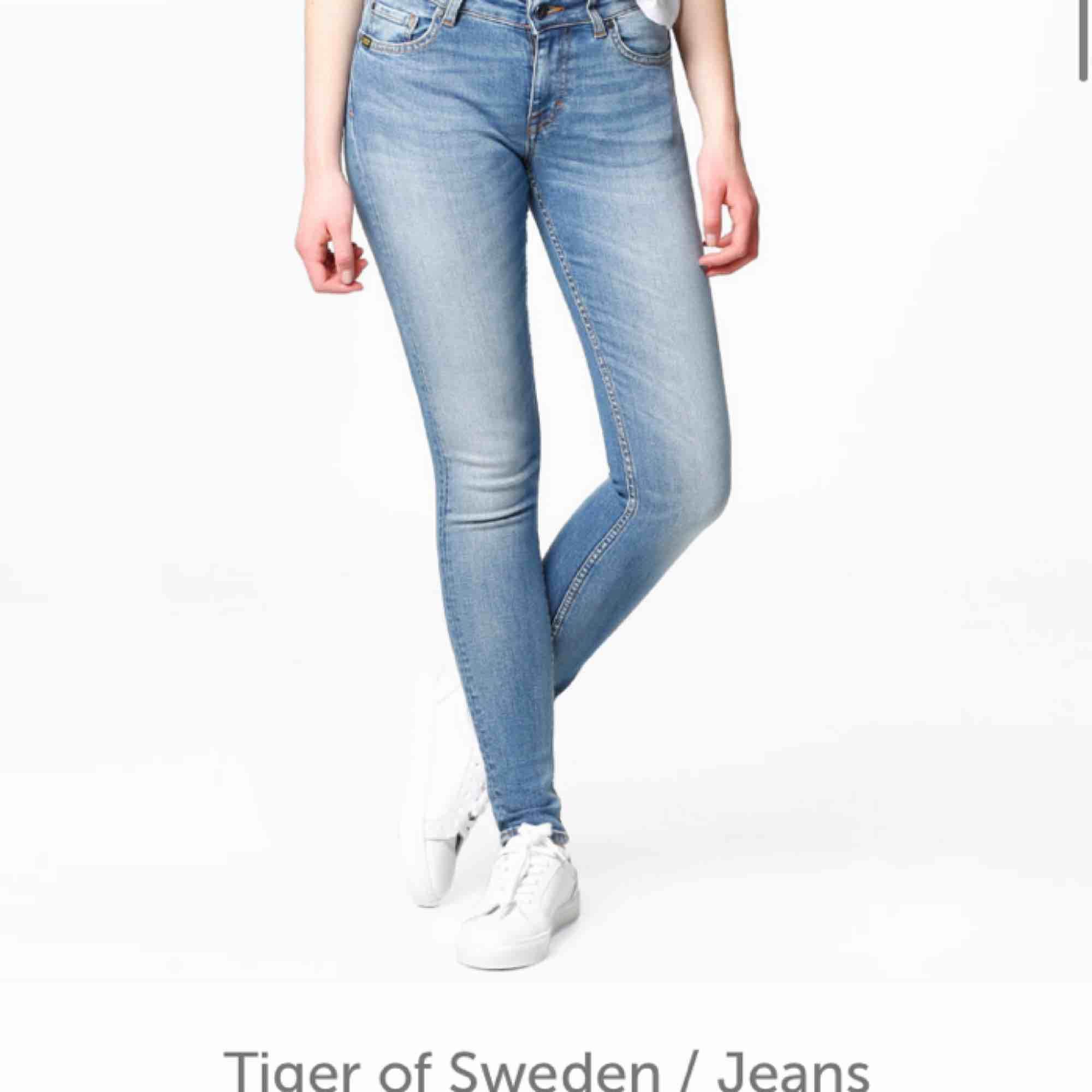 Ett par snygga tiger of Sweden jeans lite klippta för e typ 160 och dom var lite långa men annars likadana som på bilden. Jeans & Byxor.