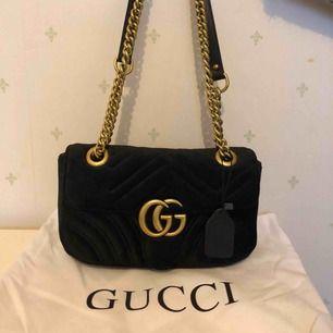 Velvet Gucci väska i skinn, storlek ca 22*13 cm     Aaaa kopia  Köparen står för frakten
