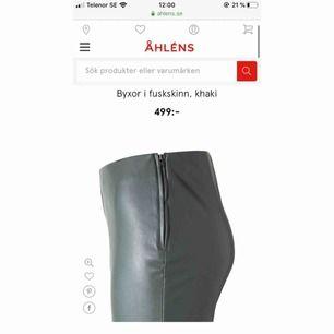 Super fina märkes imitation läder byxor från märket Wera. Aldrig använd & helt ny! Slutsåld på Åhlens hemsida. Ny pris 499 & mitt pris 249 kr.
