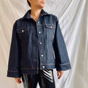 Brand new raw denim, large sleeves and wide fitting, size M can fit up to size L.  Model is 160cm size M. Free shipping.