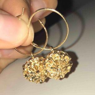 Snygga guldiga örhängen från H&M!! 😜
