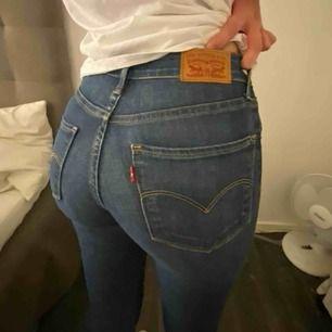 Superfina blåa jeans från Levis. Modellen High Rise skinny storlek 24 Köpta för några månader sedan ca ett halv år sen. Endast använda en gång. Super fint skick.