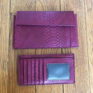 Plånbok från Gina, tillhörande mindre korthållare. Näst intill oanvänd. Köpare står för eventuell frakt!