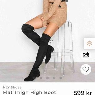 Ett par over the knee boots från Nelly. Har använt dessa nog 6 gånger max så de är i bra skick