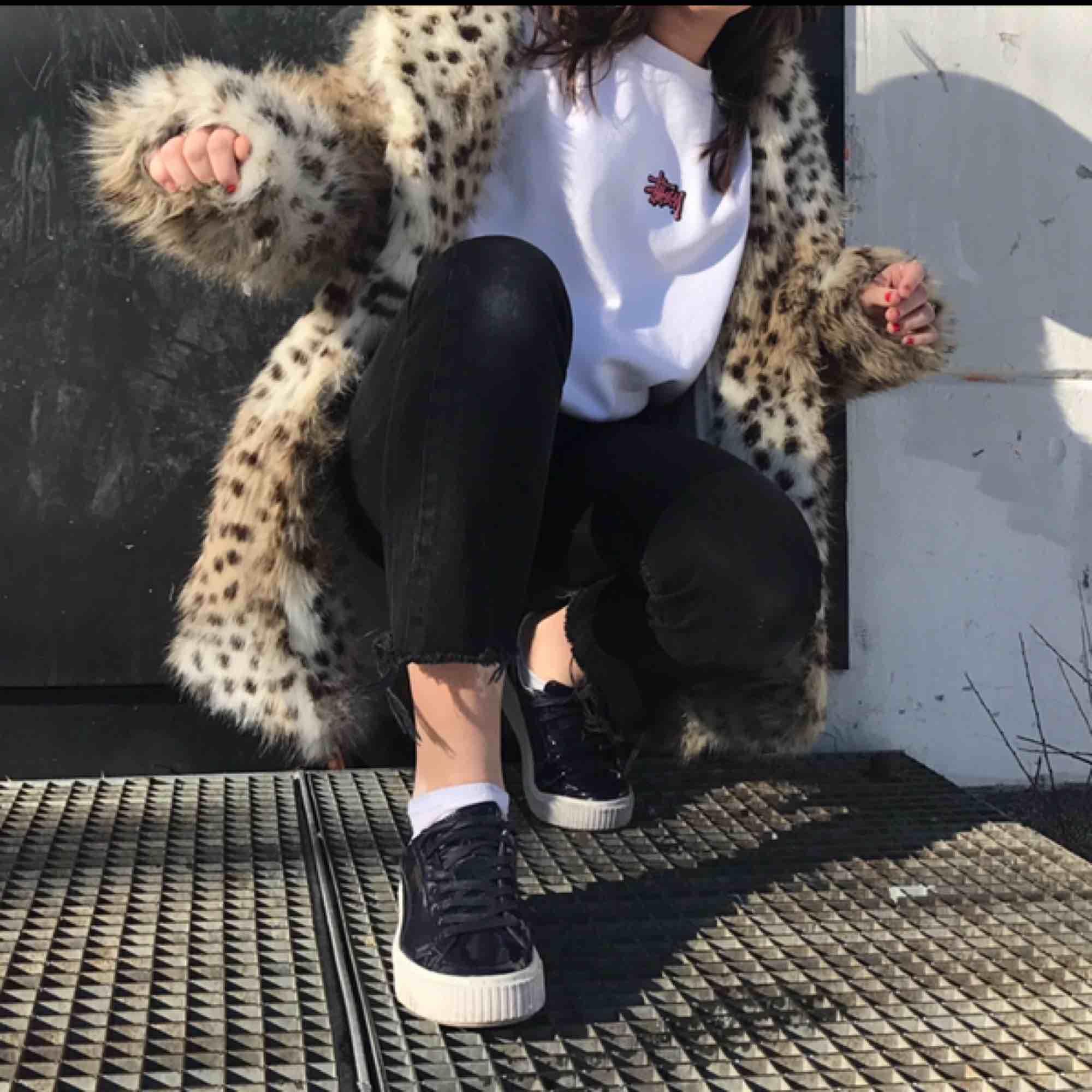 Oversized leopardpäls jacka . Jackor.