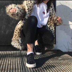Oversized leopardpäls jacka