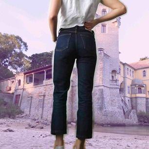 Jeans från MANGO! använda 2 grr. Säljes pga kommer ej till användning. Ankellängd. Ej slim, rak modell.