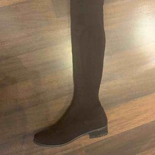 Overknee boots från Nelly med snörning bak