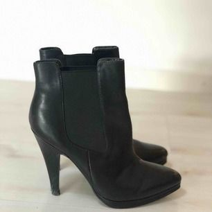 Läder boots. Nästan som nya. Äkta läder.