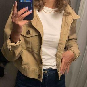 Jeansjacka beige