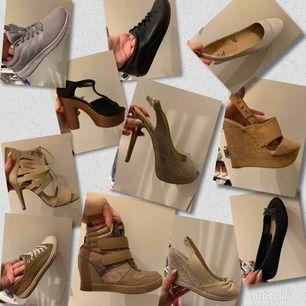 Alla storlek 38   🌸Hämtas upp HOS MIG i näckrosen, träffas ej för att du ska testa skorna. Endast för att genomföra köp🌸