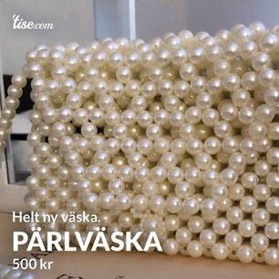 Helt ny väska gjord av pärlor.