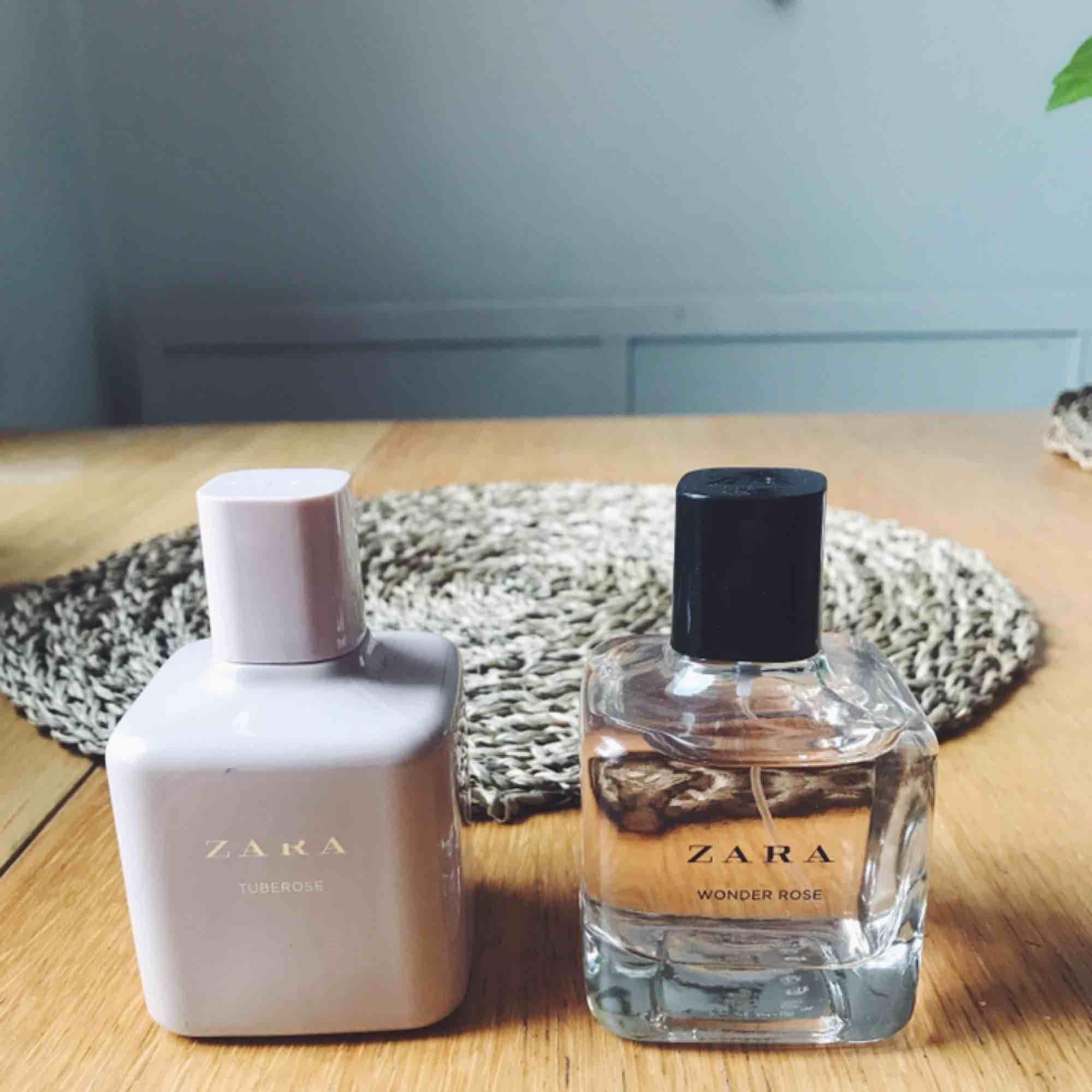Två parfymer från Zara, knappt använda. Säljes pga fått en ny parfym.  Båda luktar supergott, de är lite för starka för min smak bara. Jag säljer alltså båda 2 för 100kr. Övrigt.