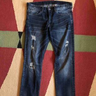Jeans byxor, slim low waist, strl 32/30, herrstrl, 50kr