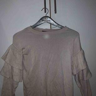 Beige ribbad tröja från Gina, i bra skick! Säljer pga kommer inte till användning. Köpare står för frakt 😇