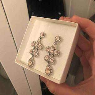 """Säljer nu ett par örhängen från Lily & Rose. Det kommer inte till användning då jag är mer en """"guldtjej"""". Dem är i otroligt fint skick och det finns även en ring i med samma kristall. Nypris : 900kr"""