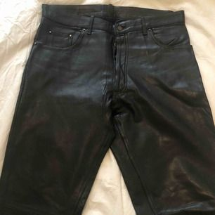 Genuine vintage Leather Pants- size 36 Men inseam length of pants is 90cm and in excellent condition!