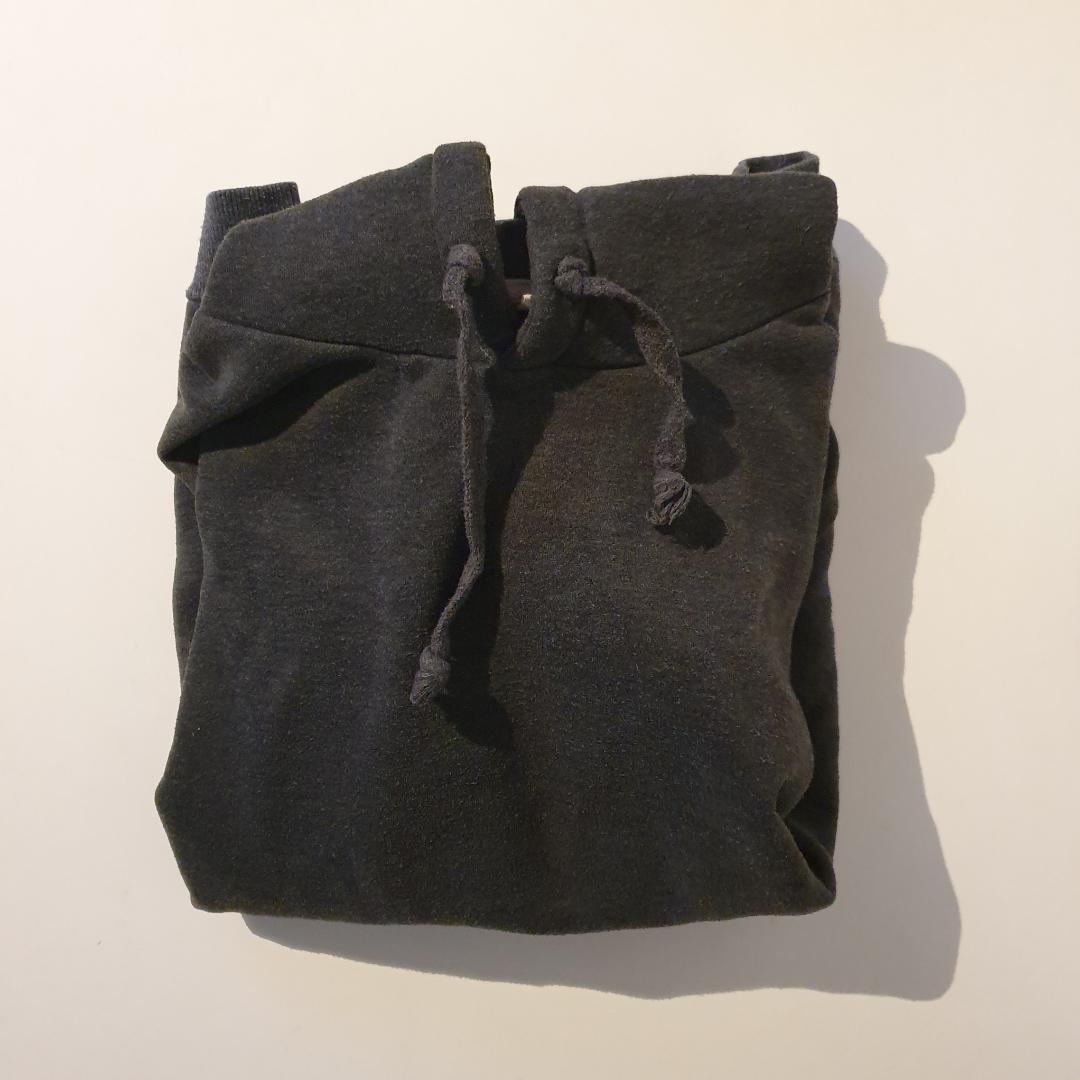 Oversized passform mörkgrå huvtröja. Huvtröjor & Träningströjor.