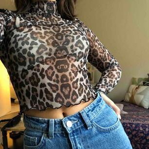 Skitnice mesh tröja med leopardmönster🐆