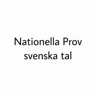 NP svenska tal åk 9, skriv till mig om du har frågor