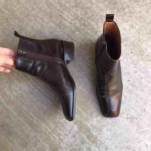 Rizzo boots  Storlek 39 100% läder Bruna Sparsamt använda