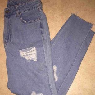 Slitna jeans aldrig använda jätte söta frakt tillkommer