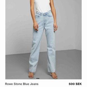 Säljer mina row weekday jeans då jag har så mycket byxor! Väldigt bra skick! Frakt inte inkluderat