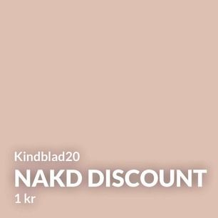 Rabattkod NAKD Kindblad20 = 20% rabatt på ALLT utom REA. 😋 Gäller till torsdag 22.00 (14/11-19)