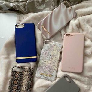 Skal till iphone 8 plus, sparsamt använda. 100kr/st