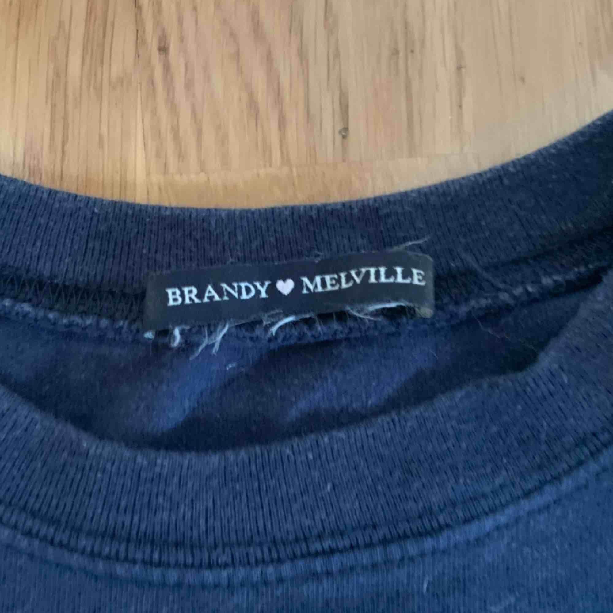 Mysig tröja från brandy melville! Frakten ligger på 50kr❤️ hör av er vid frågor!❤️ endast använd ett fåtal gånger. Tröjor & Koftor.