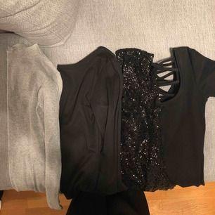 Har en del små korta klänningar vill ni har fler bilder så skicka meddelande. Tänkte 50kr /st  märken bla. Bikbok, monki, hm