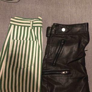 Två kjolar, den svarta från hm och den gröna från humana. 50kr/st nyskick!